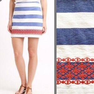 Vineyard Vines Blue/White Striped Skirt